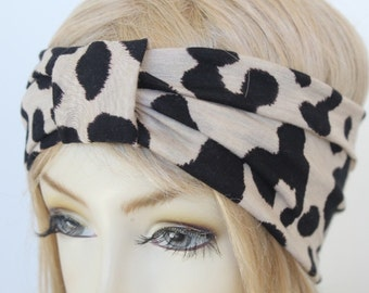 Very Cute Turbans Headband leopard print   great accessory for your outfit