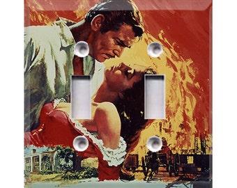 Gone With the Wind - Rhett & Scarlett Double Light Switch Cover