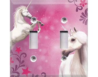 Unicorn Double Light Switch Cover