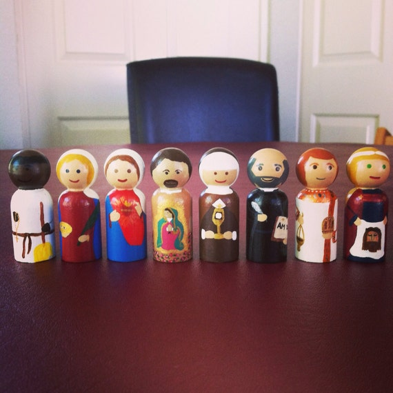 Custom Catholic Saint Peg Dolls