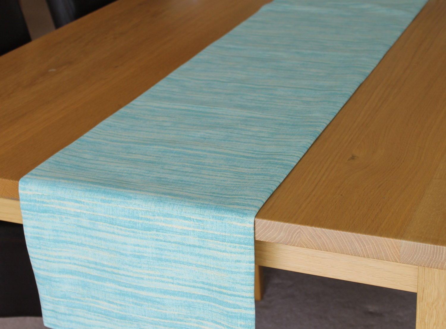 Table Runner Modern Table Runner Teal Green And Lemon