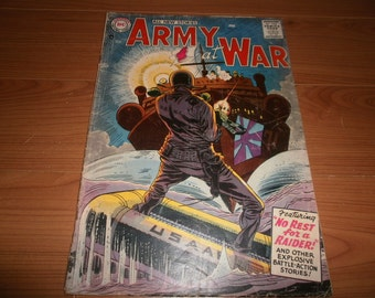 D.C. Comics - Army at War  No. 55 (February 1957 issue)  Silver Age Comic