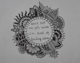 Don't Let Me Go Lyric Art