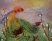 Wool Painting Kit,  Lady Spring everything included to make your own.