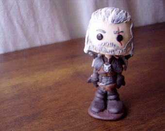 """Tiny bobblehead Geralt of Rivia from  """"The witcher 3"""""""