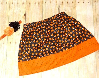 girls Halloween skirt ONLY girl candy corn skirt for Halloween halloween skirt toddler girl halloween clothing
