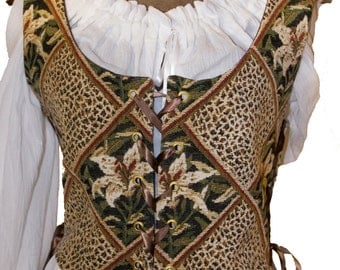 Lady's Renaissance, Celtic, Pirate, Medieval, Steampunk Bodice