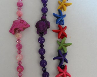 Childs  Bracelet with Sea Creatures