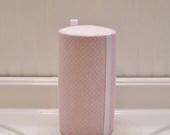 Hair Accessory Organizer. Light Pink Polka Dots. Girls. Baby. Nursery Headband Holder.- Made to Order