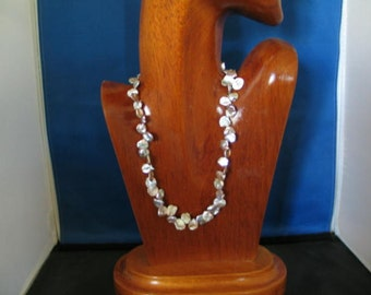 Keishi Pearl Necklace Sterling Silver