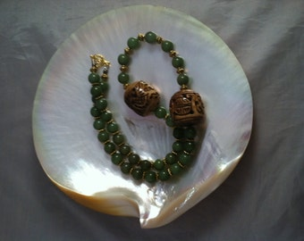 Jade & the Twins/Jade Necklace/Chunky Accent Necklace/Statement Necklace