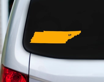 Tennessee love vinyl car decal heart or ut over for Joe shirt knoxville tn