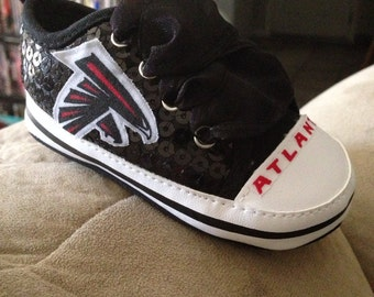 Loley pops creations Falcons baby shoes - this creation is made by me and not affiliated with NFL