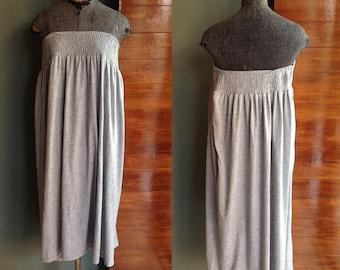 Vintage 70s Maxi Dress skirt Tube XL Plus Size SALE