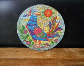Vintage Verkade Colorful Bird Tin Container