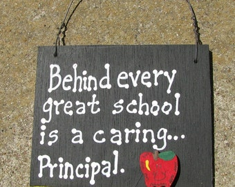 Teacher Gift  5209 Behind every great School is a caring...Principal  with Ruler/Apple