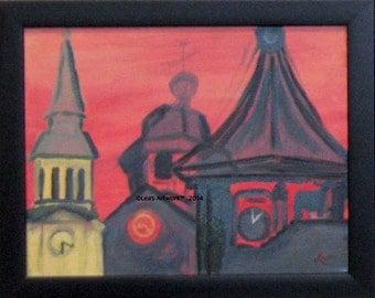 Steeples II - Sailor's Delight - Original Acrylic Painting - Framed