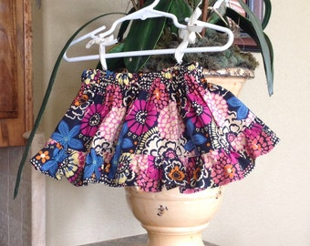 NEW Ruffled Skirt, Navy and Pink (baby, toddler, girl, infant, child)