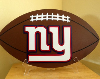 New York Giants 3D Football Sign