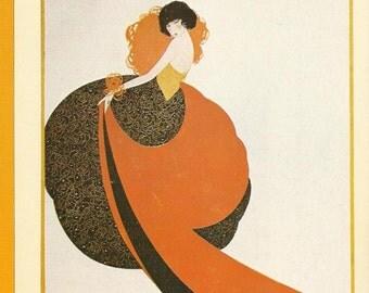 Vogue magazine cover 1921 by Reinaldo Luza Lady Fashion Fashion Illustration Vogue Poster Art Deco Home Decor Print Fine Art