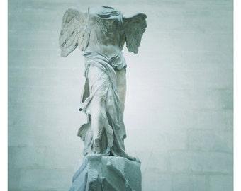 Winged Victory Of Samothrace Statue at the Louvre Museum, Paris 8 x 10 Fine Art Print, Paris France, Romantic Statue-Guardian Angel, Dreamy