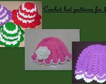 Crochet Hat Pattern One Year Old : Crochet pattern for one to two year old kids dress and hat