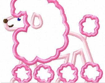 French Poodle Applique Design