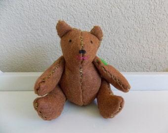 Brown Handmade Felt Bear