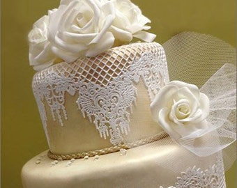 Edible Lace Doilies  Edible Doily   Amazing on your cake!    Lace Doilies    Simply Beautiful !!!