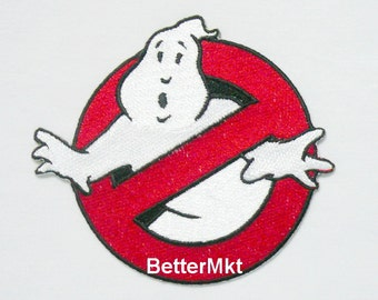 GHOST BUSTER LOGO Embroidered Applique Badge Sewing Iron on Patch