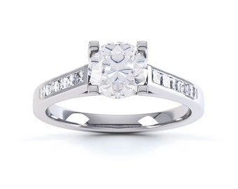 Shanti 18ct White Gold Princess Solitaire Diamond Engagement Ring 0.35ct