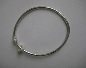 Silver bangle, silver bracelet, baby shower gift, baby bracelet, baby jewelry, rattle, teething ring, personalised bracelet