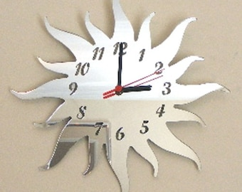 Sun Clock Mirror - 2  Sizes Available