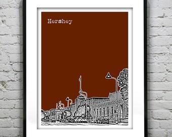 Hershey Pennsylvania Poster Art Skyline Print PA