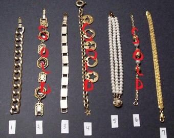 7 Vintage Bracelets Each Sold Separately