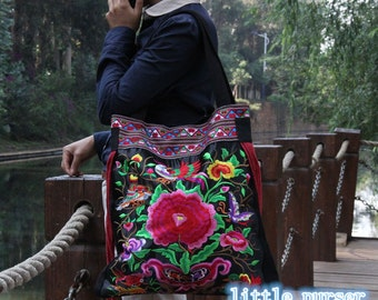 Handmade Embroidered Bag,Chinese Embroidery Bag,tote,Shoulder Bag,canvas bag,bag,Diaper Bags,Shopping bag,Casual bags,Travel package,