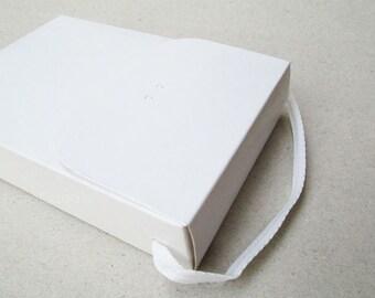 White Box, Gift Box, White Bag Set of 6