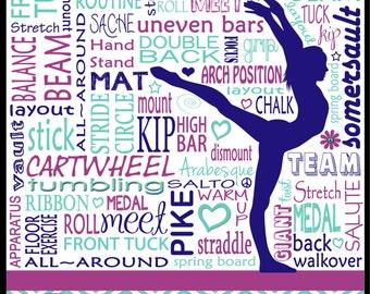 Gymnastics Typography Poster