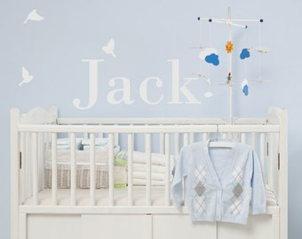 Custom Name Wall Decals - Name Fabric Wall Decals
