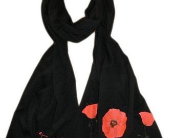 Jersey scarf Klatschmohn