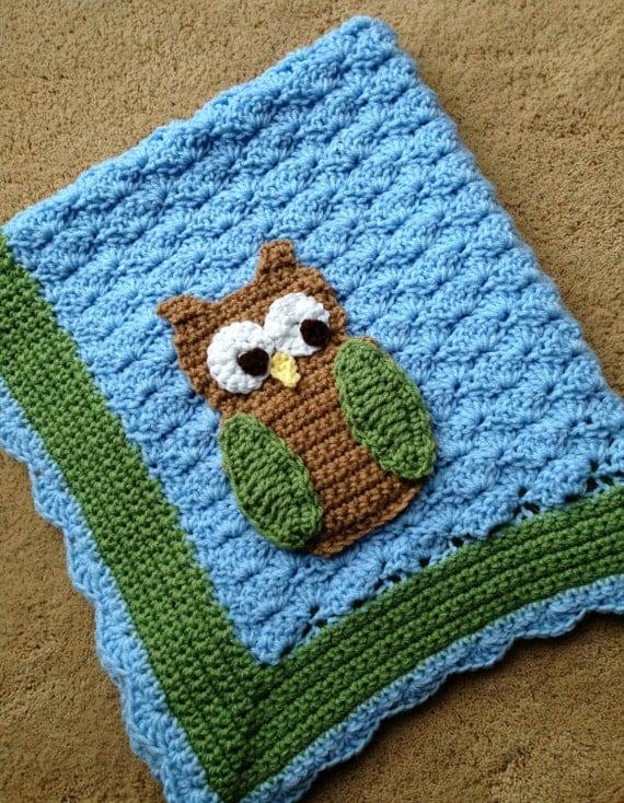 Free Crochet Pattern Owl Afghan : Little Hoot the Owl Crochet Baby Blanket Pattern