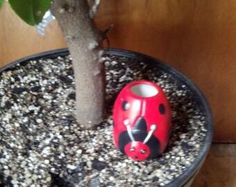 Ceramic Self Watering Plant Tender Ladybug
