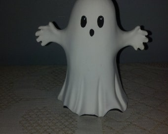 Hand Painted Ceramic BOO Ghost