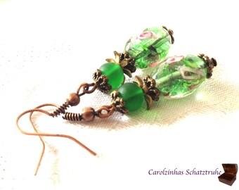 Green Garden - green Earrings