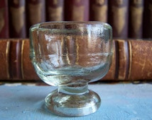 Old Small Clear Glass for Medicine Laboratory use. Eye cup. Eye wash glass. Home Photo Decor
