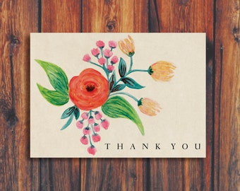 Floral Thank You Card | SALE NOW 60% OFF