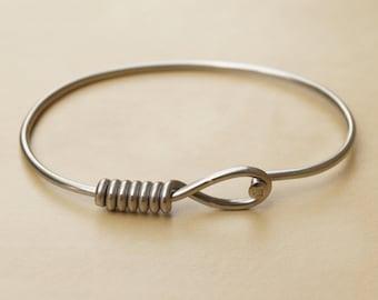 Silver Oval Bicycle Spoke Bracelet