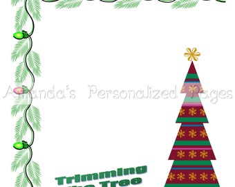 12x12 1-page Personalized Scrapbook  Paper (Christmas 2)
