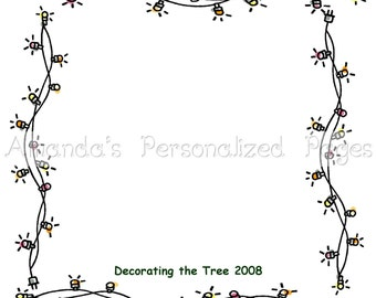 12x12 1-page Personalized Scrapbook  Paper (Christmas Lights)