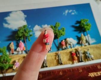 plastics peoples lots crafts, diorama  figurines miniatures pour diorama